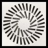 Difuzor patrat ACP SWRR.LR lamele fixe dispuse radial